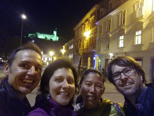 With our new friends in Ljubljana: Vesna and Robbie!