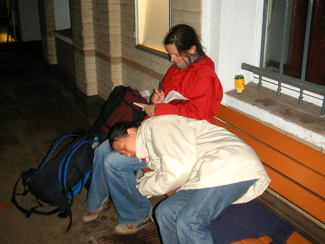 Sleeping on the platform - Amy McPherson