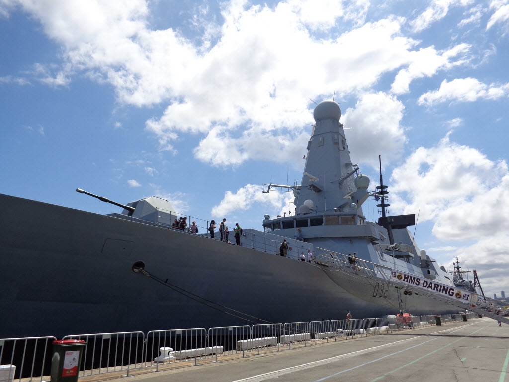 Sydney International Fleet Review - HMS Daring - Amy McPherson