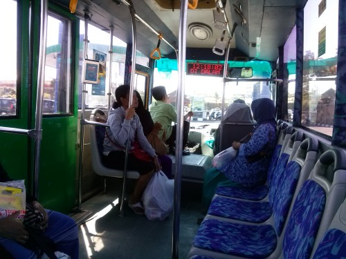 On the bus in Jogjakarta - Amy McPherson