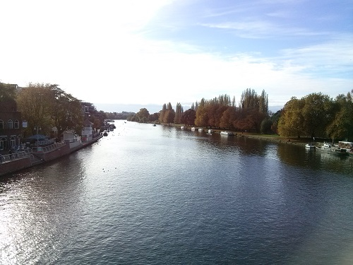 This is the river front where we've taken many long afternoon walks