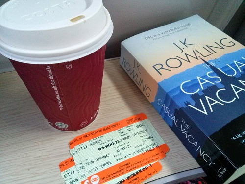 Book. Check. Coffee. Check. Ticket. Check. Ready for my rail journey!