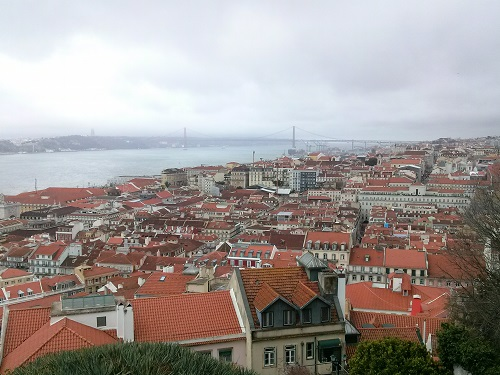 Lisbon, viewed from Castelo de Sao Jorge