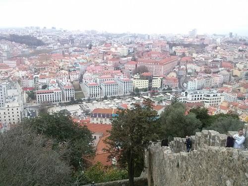 The view pf Lisbon from Castelo de São Jorge