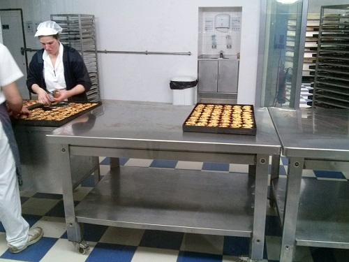 Pastel de Nata production line at Pastéis de Belém