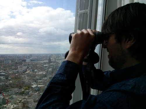 Binoculars are supplied in each room for some serious sightseeing.
