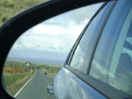 Watching the weather approach from the wing mirrors.
