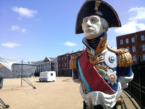 It's all about Lord Nelson here at the Historic Dockyard in Portsmouth