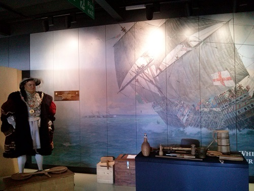 The Mary Rose Museum temporary display - the museum will re-open late summer 2016.