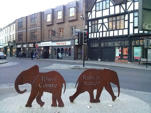 For some reason Colchester has elephant references everywhere!
