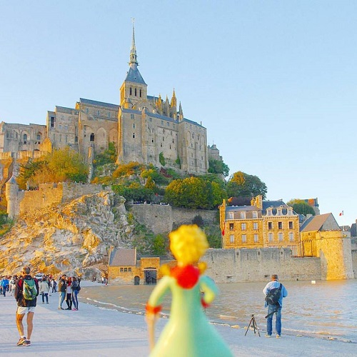 Le Mont Saint Michel? Yep, Le Petit Prince has been there too! (Image courtesy of Livia Cheng)